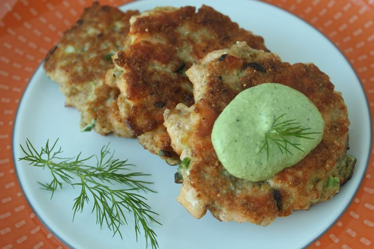 Salmon Cakes with Creamy Dill Sauce   Made it and Loved it!   Pintere ...