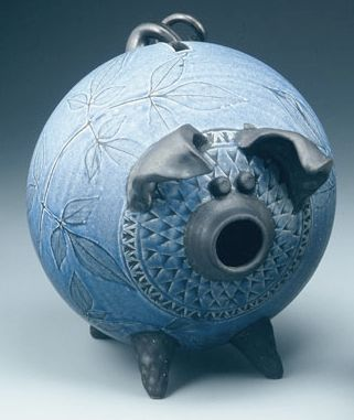 Piggy Bank Blue A Penny Saved Pinterest