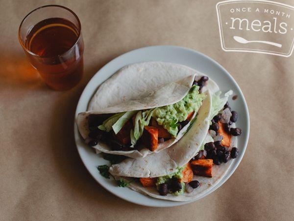 sriracha-sweet-potato-black-bean-tacos | Food | Tacos | Pinterest