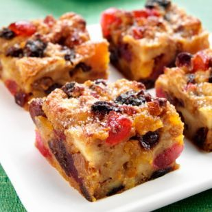 Mixed Berry and White Chocolate Bread Pudding #berrylove