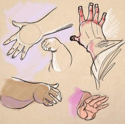 dibujar manos gruesas