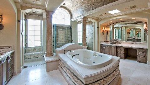 Bathroom With Walk Around Shower Interiors Pinterest
