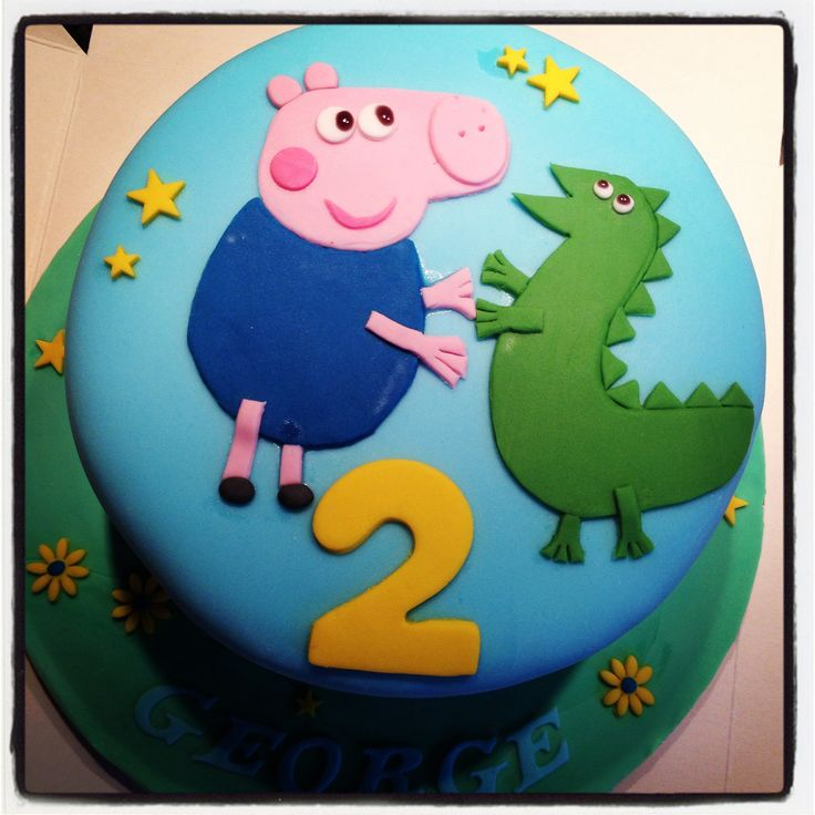 George The Pig And Dinosaur Cake More New Cadillac 2016