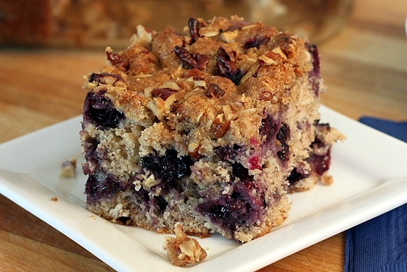 Blueberry Oat Buttermilk Breakfast Cake