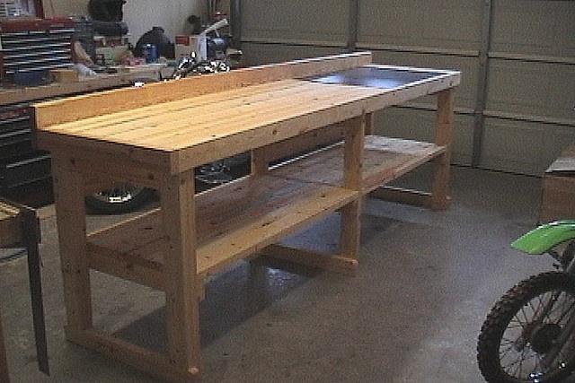simple workbench | garage storage ideas | Pinterest