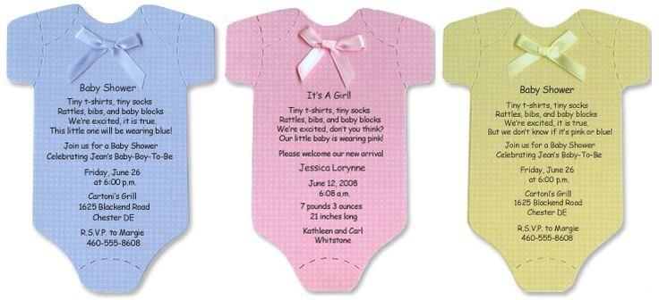 Onesie baby shower invitations   Party ideas