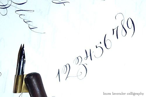 Pretty Calligraphy Numbers Font Loveliness Pinterest