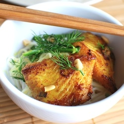 Cha Cá Thang Long (Vietnamese Style Fish with Turmeric & Dill)