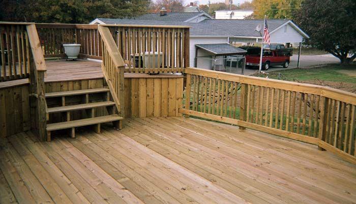 Tiered Backyard Decks : Two Tier Deck Pictures  Level Deck  Backyard upgrades  Pinterest
