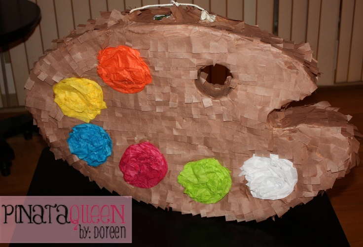 paint palette pinata painting birthday party eydt