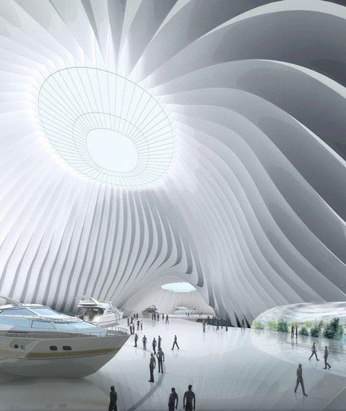 Future building futuristic interior future architecture for Future interior designs