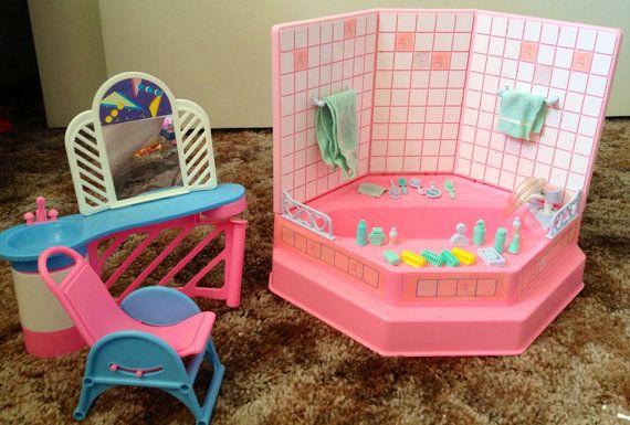 Vintage barbie bathroom set on etsy 40 00