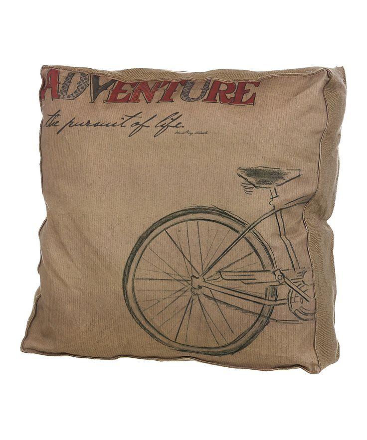 Throw Pillows With Bikes : Bike Adventure Pillow DIY & Crafts Pinterest
