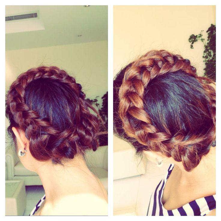 crochet stitched crown HAIR BRAIDING Pinterest