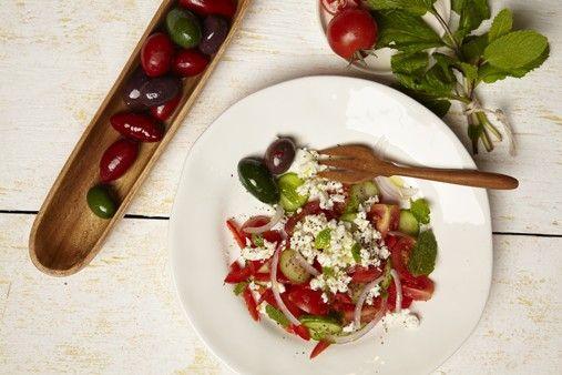 """""""Beefed-Up"""" Israeli Salad"""