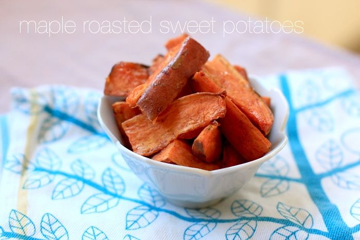 maple roast sweet potatoes: These were great! Will try with butternut ...