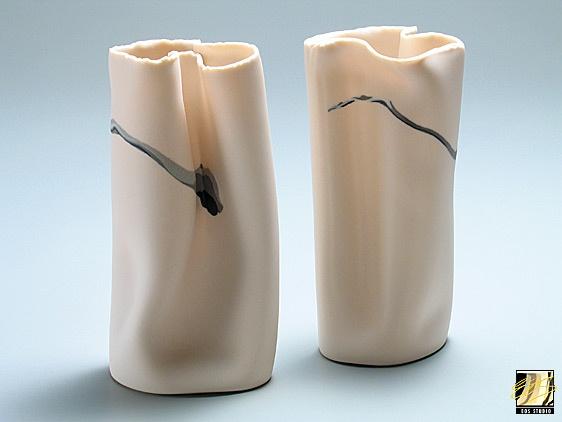 Small Oval Vases  Porcelain #ceramics