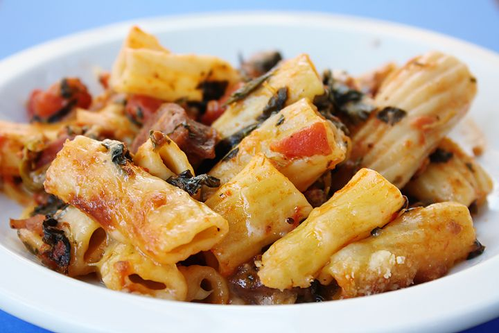 Baked Pasta with Chicken Sausage   Yum Food   Pinterest