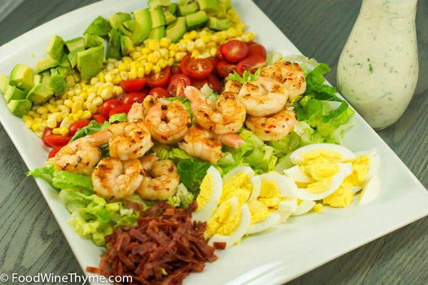 Grilled Shrimp Cobb Salad