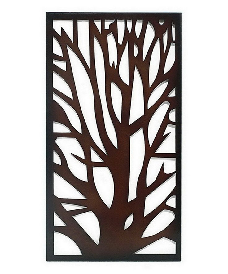 Brown tree silhouette wall art for Silhouette wall art