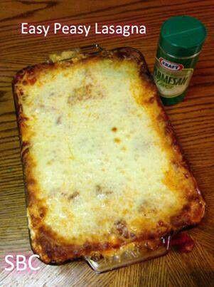 Easy lasagna | Recipes | Pinterest