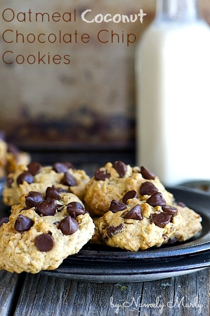 Oatmeal Coconut Chocolate Chip Cookies | Recipe Ideas | Pinterest