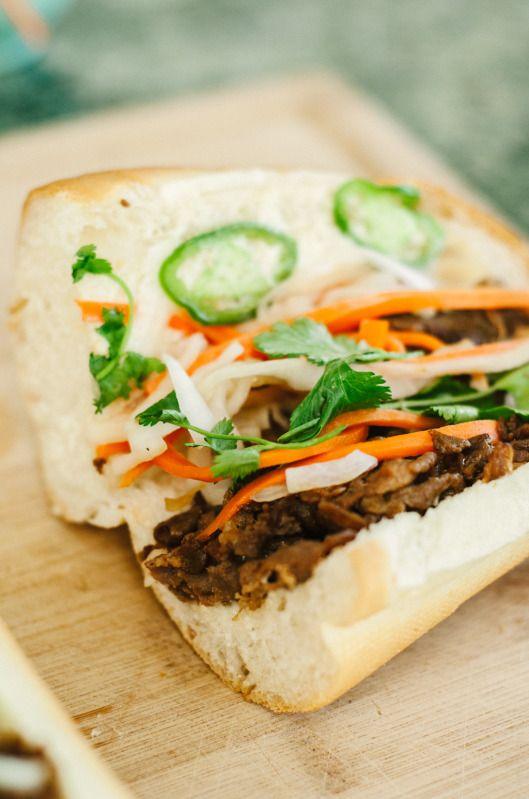 Banh Mi - Vietnamese Sandwich with Grilled Pork