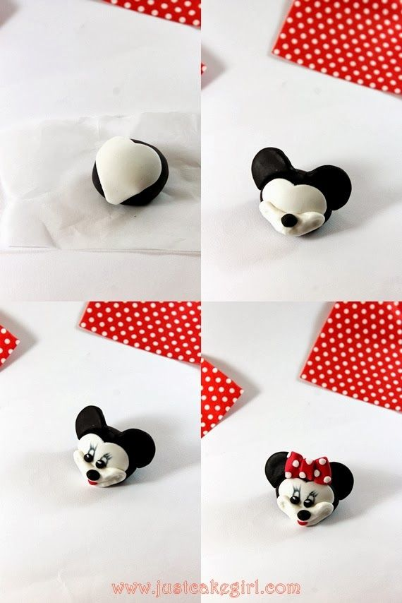 Minnie Mouse fondant cake Sweets Pinterest