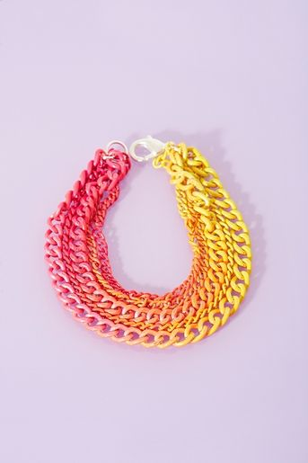 Dip Dye Bracelet DIY idea