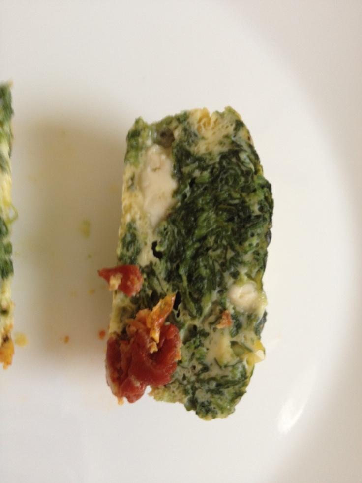 Inside My Spinach, Feta, and Sun-Dried Tomato Mini-Frittata