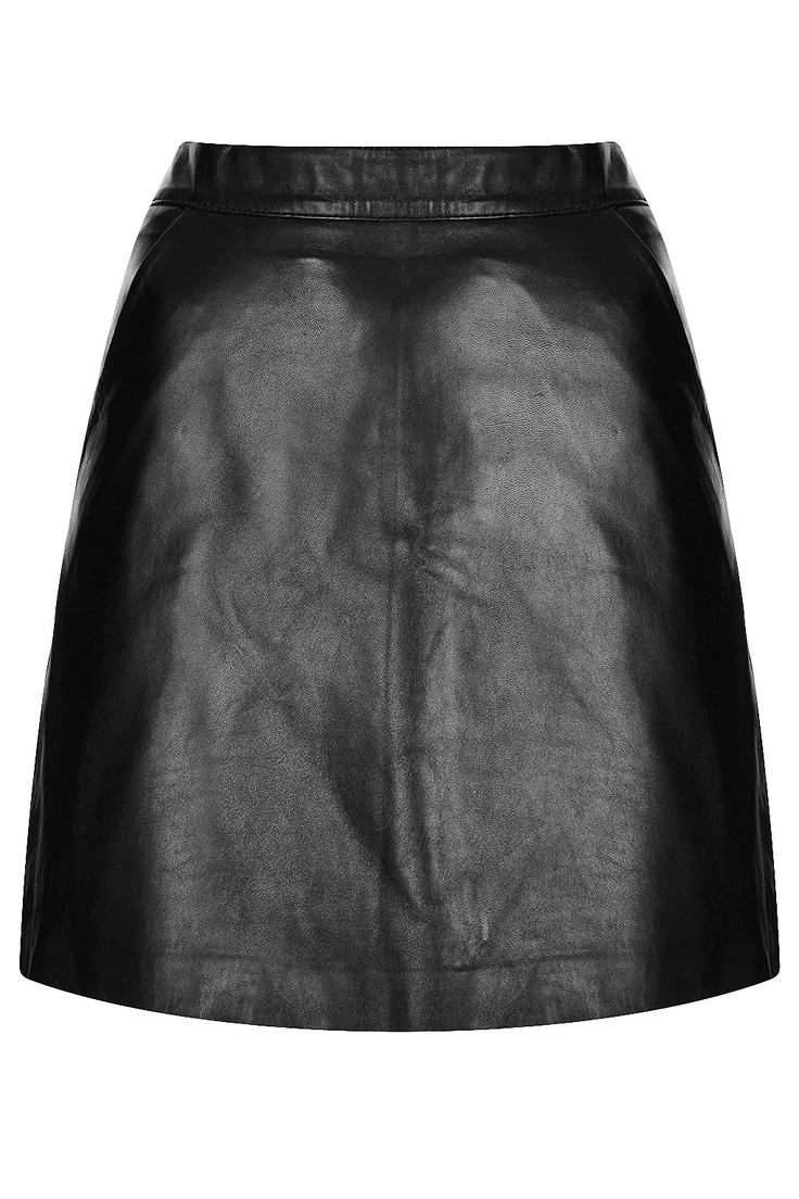 leather a line skirt fashion