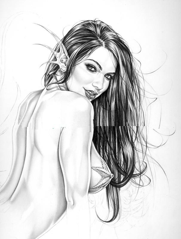 Порно рисунки карандашом 143