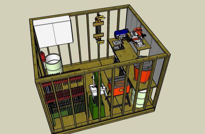 10x12 workshop layout ideas | Small Workshop Storage Ideas | Pinterest