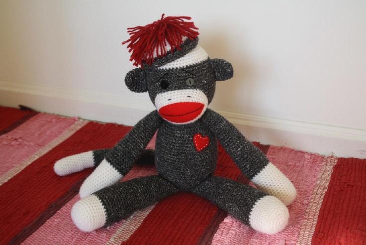 Amigurumi Crochet Sock Monkey : Sock monkey - free amigurumi pattern.pdf Crochet Pinterest