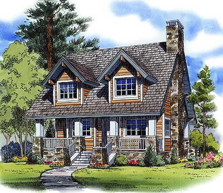 Mountain cabin plan Cabin house plans