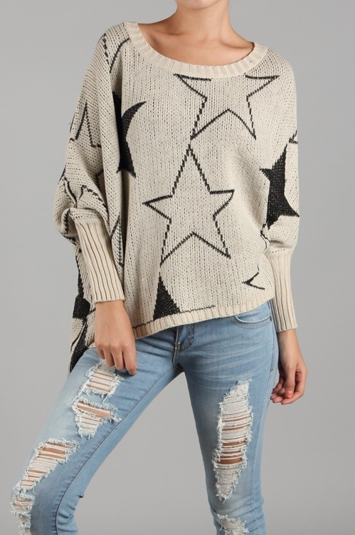 Stars are a huge trend. This adorable sweater arrives next week 9/17-9/21
