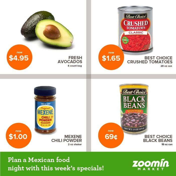 Make monday mexican meal night with these great specials zoominmarket