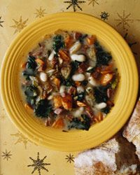 Chunky White Bean Soup with Pan-Fried Salami - Italian Soups from Food ...