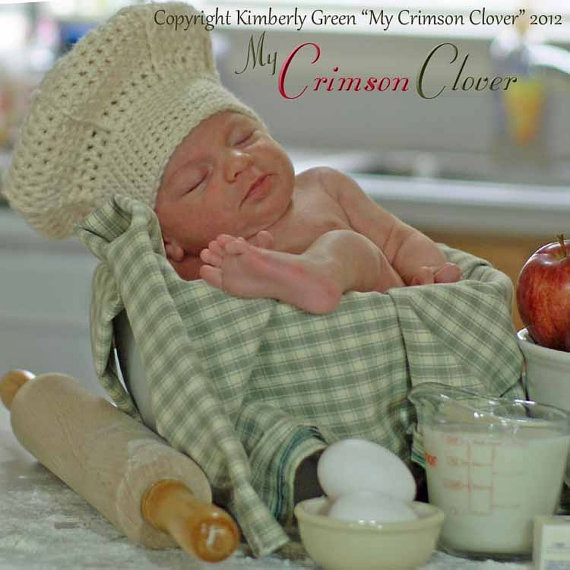 Crochet Pattern Chef Hat : Chef Hat Pattern Crochet Le Petit Chef Hat by MyCrimsonClover