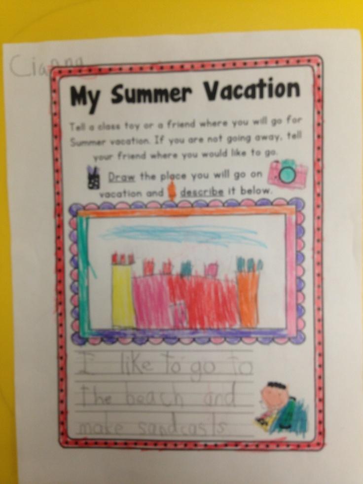 Summer Writing Worksheets K-1