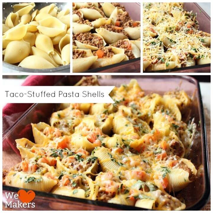 Taco-Stuffed Pasta Shells | FOOD | Pinterest