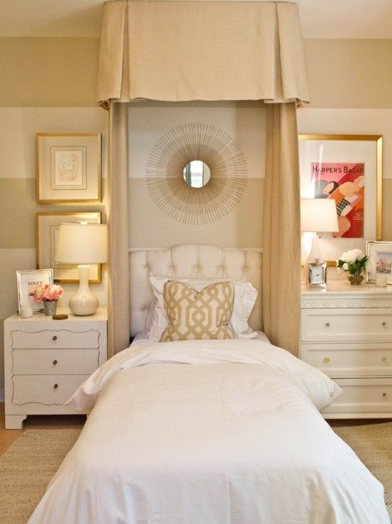 pretty girls room love cream gold and white together