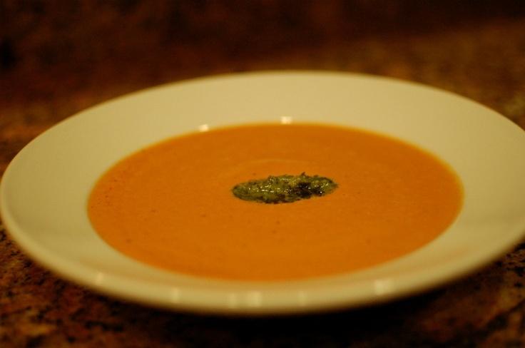 Creamy Tomato Soup with Pesto | Soups On | Pinterest