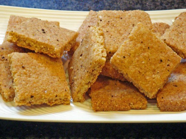 CARB WARS BLOG: PARMESAN ALMOND CRACKERS / 1 cracker .7g net carbs
