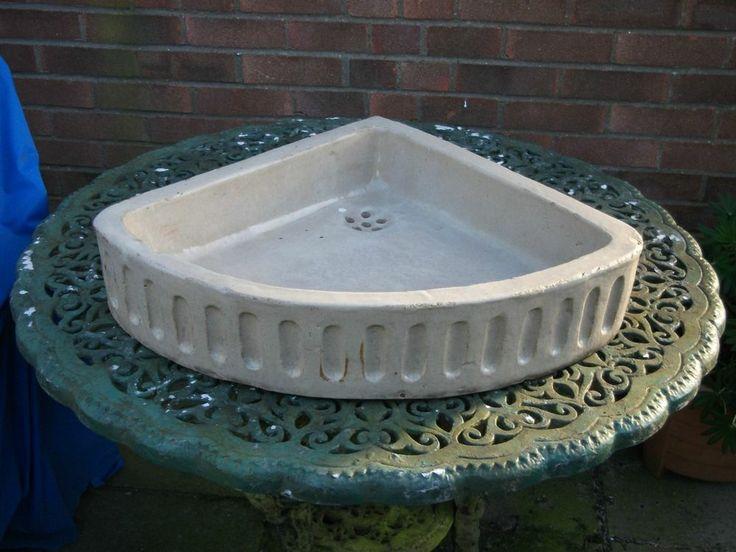 Victorian Corner Sink : VICTORIAN GLAZED CORNER SINK