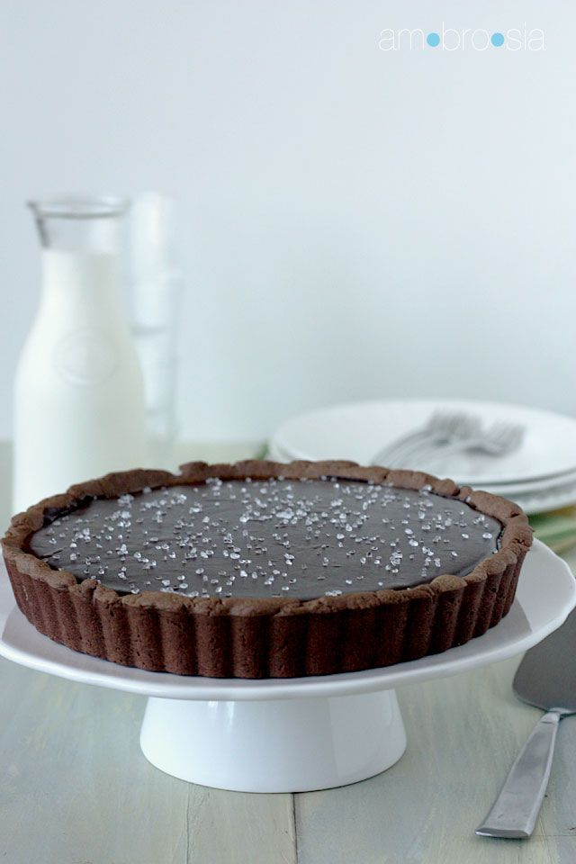 Salted Chocolate Caramel Tart Recipe — Dishmaps