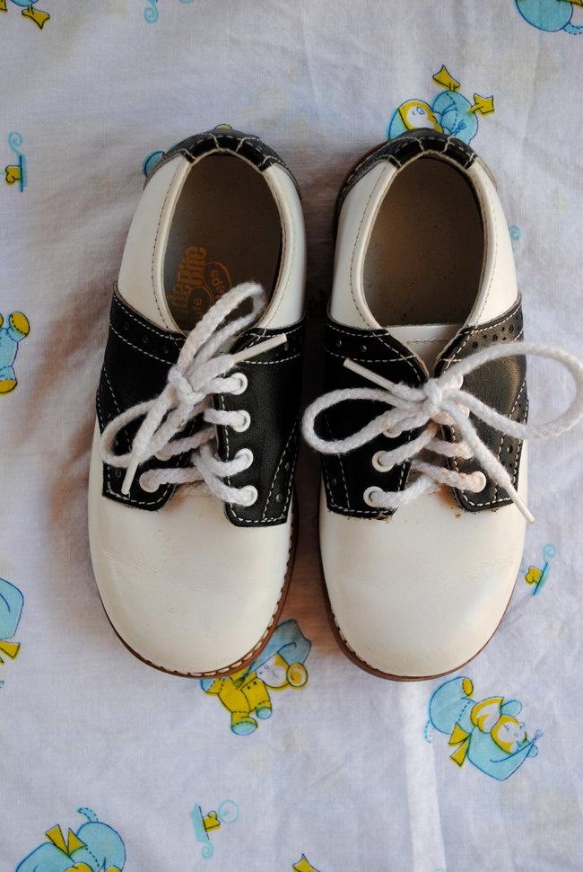 RESERVE vintage toddler saddle shoes