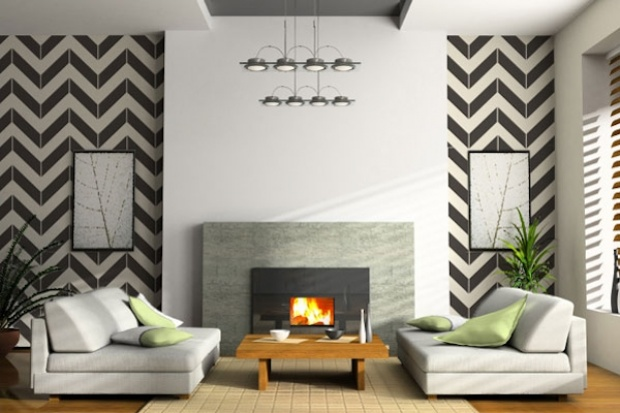 chevron living room paint layout ideas for front living room