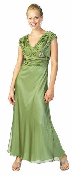 Apple Green Mother of the Bride/Groom Dress Evening Gown Green Long