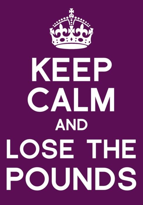 keep calm and lose the pounds :)